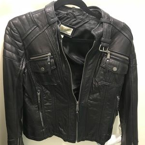 mk  motorcycle leather jacket medium